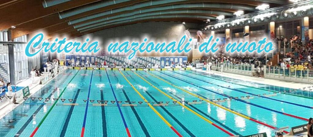 campionati nazionali criteria di nuoto riccione